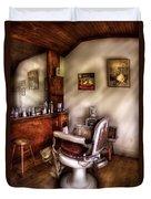 Barber - In The Barber Shop  Duvet Cover