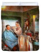 Barber - Getting A Trim 1942 - Side By Side Duvet Cover