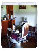 Barber - Old-fashioned Barber Chair Duvet Cover