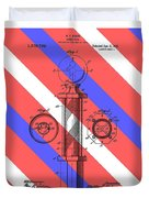Barber Pole Patent Duvet Cover