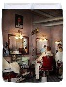 Barber - Senators-only Barbershop 1937 Duvet Cover