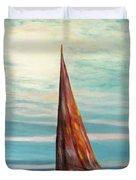 Barca Al Chiar Di Luna Duvet Cover