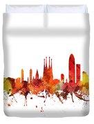 Barcelona Cityscape 04 Duvet Cover