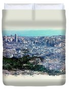 Barcelona Desde El Tibidabo Duvet Cover