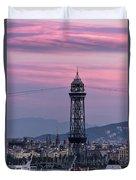 Barcelona Sunset Duvet Cover