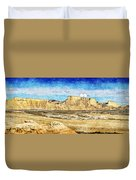 Bardenas Desert Panorama 3 - Vintage Version Duvet Cover
