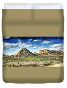Bardenas Desert Panorama 4 - Vintage Version Duvet Cover