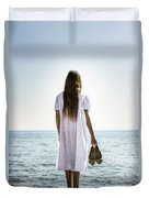 Barefoot At The Sea Duvet Cover