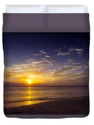 Barefoot Beach Preserve Sunset Duvet Cover