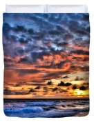 Barefoot Beach Sunset Duvet Cover