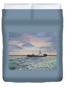 Barge On Port Phillip Bay Duvet Cover