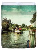 10946 Cruising On The Grand Union Canal Duvet Cover