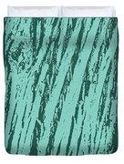 Bark Texture Turquoise Duvet Cover