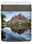 Barker Dam Reflection Duvet Cover