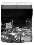 Barking Crab Boston Ma Black And White Duvet Cover