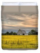 Barm In A Yellow Field Duvet Cover