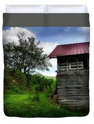 Barn After Rain Duvet Cover