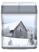Barn After Snow Duvet Cover