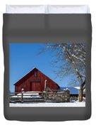 Barn And Blue Sky Duvet Cover