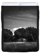 Barn And Palmetto-bw Duvet Cover
