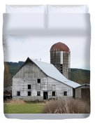 Barn And Silo Duvet Cover