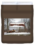 Barn And Tractor Duvet Cover