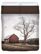 barn and tree - New York State Duvet Cover