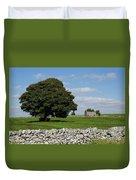 Barn And Tree Duvet Cover