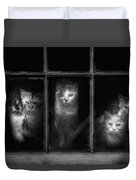 Barn Cats Duvet Cover