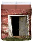 Barn Door And Cedar Duvet Cover