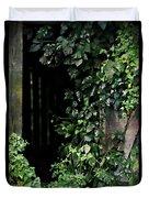 Barn Door Vines Ink Duvet Cover