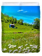 Barn In A Field Duvet Cover