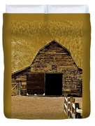Barn In Sepia Duvet Cover