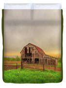 Barn In The Cloudy Sky Duvet Cover