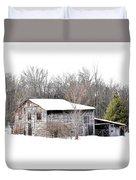 Barn In The Woods Duvet Cover
