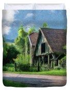 Barn Near Lac De Panthier - P4a160017 Duvet Cover