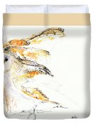 Barn Owl And Tree Duvet Cover
