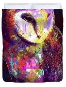 Barn Owl Bird British Nature  Duvet Cover