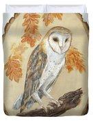 Barn Owl - Enduring Insight Duvet Cover