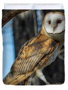 Barn Owl Framed In Cottonwood Duvet Cover