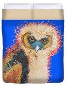 Barn Owl Painting Duvet Cover