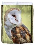 Barn Owl Portrait Duvet Cover