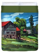 Barn Roofs Duvet Cover