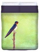 Barn Swallow, Hirundo Rustica Duvet Cover