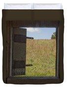 Barn Window View Duvet Cover