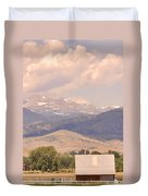 Barn With A Rocky Mountain View  Duvet Cover