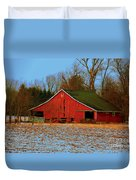 Barn With Double Doors Duvet Cover