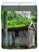Barn With Green Roof Duvet Cover