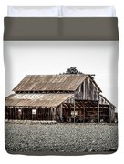 Barn With Outhouse Duvet Cover