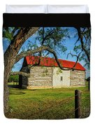Barn With Red Metal Roof Duvet Cover